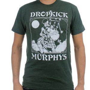 Dropkick Murphy's Skeleton Bagpipe T-shirt